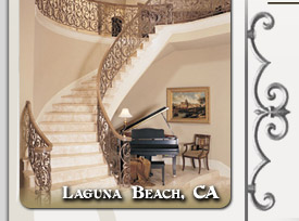 Laguna Beach Residential Ornamental Iron Stairways & Railings